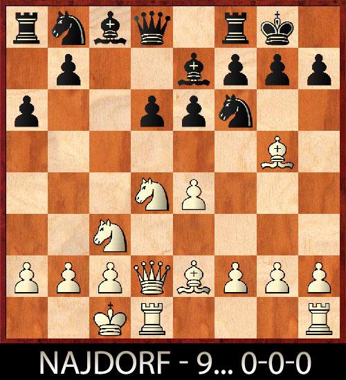 Najdorf variante con 9.0-0-0