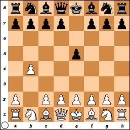 1.b4 e5